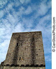 Mugdock Castle Keep - Ruined tower at Mugdock Casltle near...