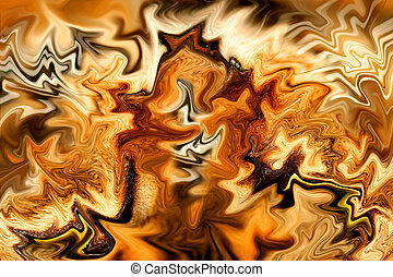 Golden Fire - Liquified photo creating a fire effect