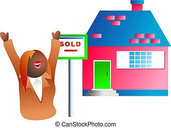 sold sign - real estate