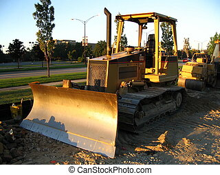 Waiting dozer - A bulldozer waiting to get some work done