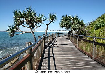 Seaside Boardwalk - Seaside boardwalk at Caloundra, Sunshine...