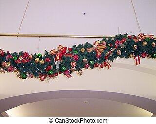 Christmas Garland - This is a big christmas garland hanging...