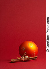 orange christmas tree ball - orange Weihnachtskugel - orange...