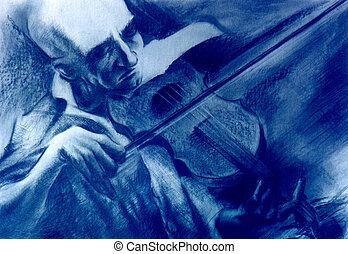 violín, profesor