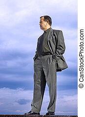 businessman outside - assured businessman