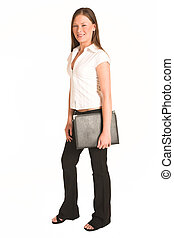 Business Woman #203(GS) - Business woman dressed white top....