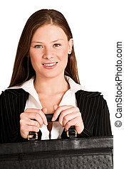 Business Woman 200GS - Business woman dressed in suit,...