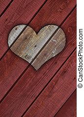3D wooden heart - wooden heart