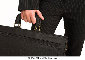 Business Woman 208GS - Business woman carrying a black...