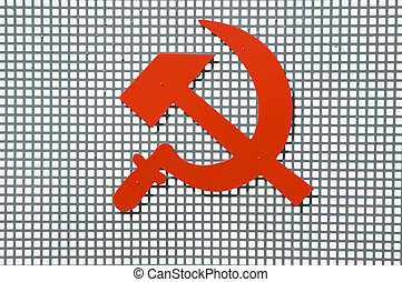 communism sign - red communism sign