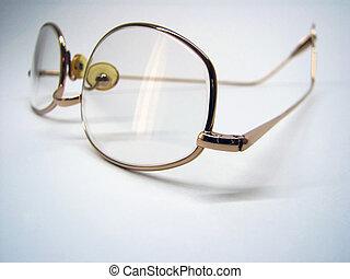 Eyeglasses - Closeup of reading glasses, DOF at the center...