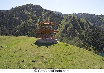 Chinese Pagoda - Chinese pagoda on hill close to Heavenly...