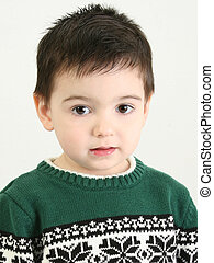 Beautiful Little Boy - Beautiful 2 year old boy in green...