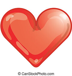 Heart icon - Stylized heart icon or symbol.