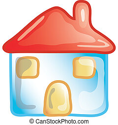 Home icon - Stylized home icon or symbol.