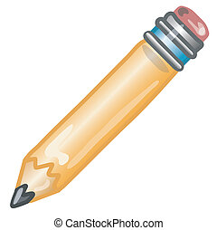 Pencil icon - Stylized pencil icon or symbol.