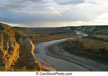 Wind Canyon Sunset - Wind Cayon Sunset at Theodore Roosevelt...