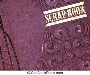 old scrap book close up