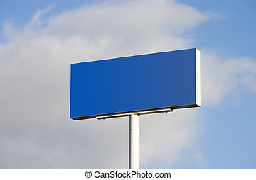 Blank Road-Side Sign
