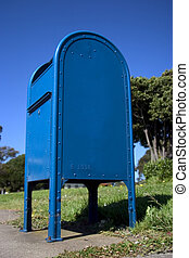 Sky Blue Mailbox - Delivery box for the US mail. Looking...