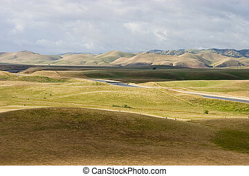 California Aqueduct 1 - The aqueduct winds its way through...