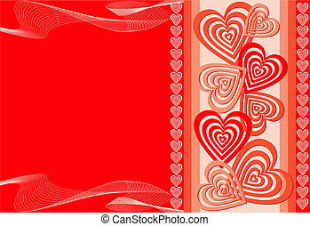Heart background, illustration