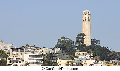 Coit Tower - San Francisco\'s Coit Tower on Telegraph Hill.