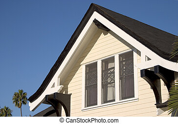 Craftsmen House Roof - Peeked craftsmen style roof with...
