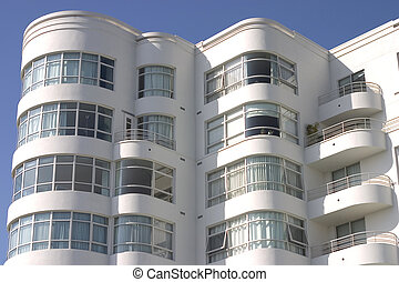 Art Deco Apartment Building #1 - A large art deco apartment...