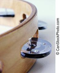 Tambourine - Closeup photo of a tambourine