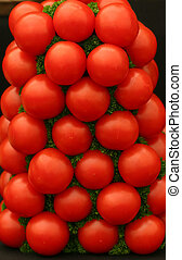 A Stack of Fresh Ripe Tomatoes - A stack of fresh ripe...