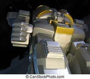 Gigantic Robot - -- with a clenched fist, better watch out!