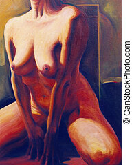 Naked female torso - Relaxation of woman - image is...