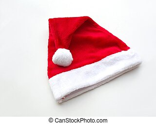 Red santa cap – white background