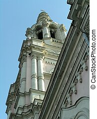Bell tower of russian church