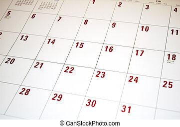 Planning - calendar
