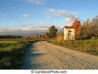 wayside shrine in autumn