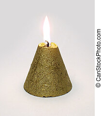 Conical candle - Golden Conical candle