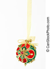 Bejewelled Christmas Bauble - A decorative Christmas ball...