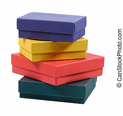 Gift Boxes - Various Color Gift Boxes - Isolated