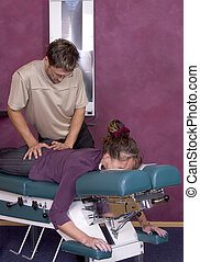 Chiropractic Adjustment VII - Chiropractor makes spinal...