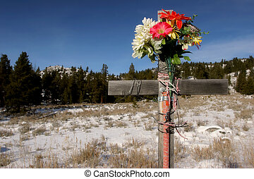 roadside cross (color version) - roadside cross - color...