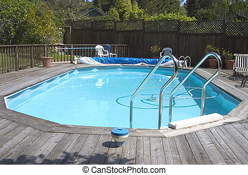"Doughboy Pool - An above ground ""Doughboy\"" swimming pool..."
