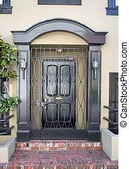 Fancy Doorway - A fancy doorway to an expensive home.