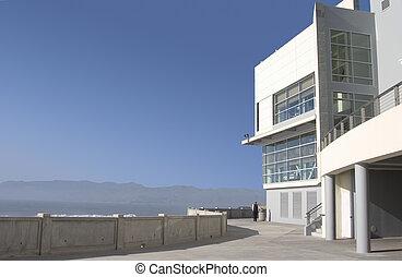 Coastal Modern - A modern building housing a new restaurant...