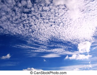 Beautiful Sky and Cloud Formation - -- in the late afternoon