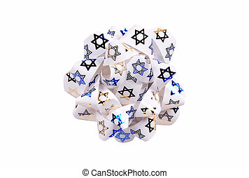 Chanukah Bow - Isolated Chanikah Bow