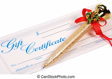 Cift Certificate - Gift Certificate and Holiday Pen