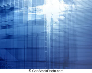 Architectural steel blue - Hi-tech architecture - backdrop