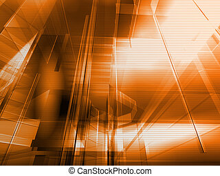 Architectural orange - Hi-tech architecture - backdrop